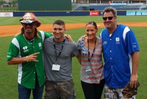 Bret Michaels & Vince Gill with honorees at that City of Hope Charity Softball Game, CMA Fest 2015