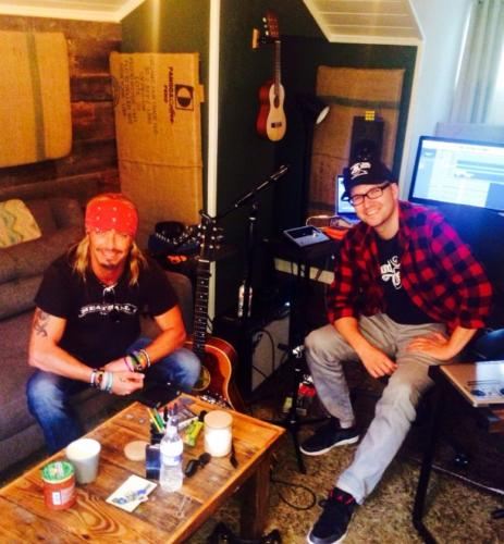 Bret Michaels & Luke Laird, Girls on Bars writing session.